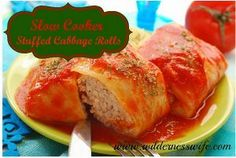 All Day Stuffed Cabbage Rolls for Six - How can you resist this ground beef recipe?