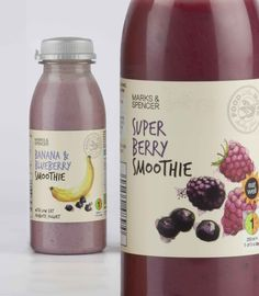 Fruit illustrations in watercolour for Marks & Spencer 'Food on the Move' smoothies.