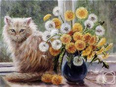 коты в окне живопись - Поиск в Google