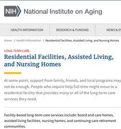 Senior Housing Options Defined