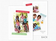 Washi Tape Holiday Photo Card - Discount Greeting Cards