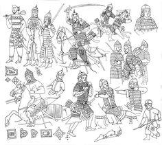 Tatars in 13 c. (Chinesе art)