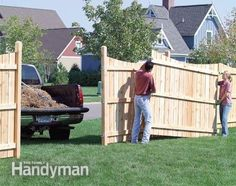 Build a Privacy Fence - Step by Step: The Family Handyman