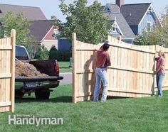 Build a Privacy Fence - Step by Step: The Family Handyman