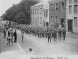 Bn, Wiltshire Regiment - A digital sepia image of the arrival of the Battalion on St Helena in July Their task was to guard Boer Prisoners of War and they remained on the island for a year. Prisoners Of War, St Helena, Digital Image, Street View, Island, Islands