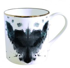 Rorschach inspired ink blot beakers and plates in limited edition.     Four different ink paintings upon close examination reveal hidden creatures that the designer has seen herself. 'Horse', 'Butterfly', 'Rabbit' and 'Fox'.