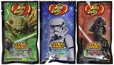 Star Wars 1 oz bags from Jelly Belly. Each bag features the iconic images of Darth Vader, Yoda or an Imperial Stormtrooper. These pocket-sized bags are perfect for traversing a galaxy far-far away or as a galactic party favor. Sparkling Berry Blue Sparking Blueberry Sparkling Green Apple Sparkling Sour Apple Sparkling Grape Soda Sparkling Wild Blackberry Sparkling Island Punch #starwars #jellybelly