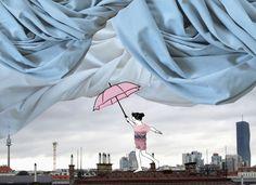 Einer unserer neuen Lieblingsstoffe - Ein schickes Gewitterwolkenblau! Nun in Kombination mit dem einzigartigen punctum - Textildesign als Sommer - Shirts! Schaut vorbei bei Dawanda, Etsy, Ezebee oder auf unserer Webseite mypunctum.com... Fair Grounds, Fun, Etsy, Shirts, Exotic Flowers, Textile Design, Lightning Storms, Website, Clouds