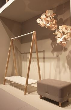 TOJ Clothes rack, Sumo Pouf And Bau Lamp @ Salone Del Mobile Milano 2012 by Normann Copenhagen                                                                                                                                                                                 Más