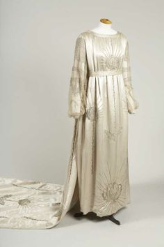 1917 Lanvin Satin Wedding Gown designed for her daughter Marguerite.