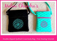 Malini Chandra's Double Zipped Quilted CrossBody Bag