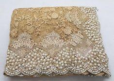Fabulous Cream Indian Nylon Mono Heavy Net Saree With Embroidery And Stone Work Wedding Sari Hand Work Embroidery, Embroidery Saree, Embroidery Designs, Net Saree Designs, Blouse Designs, Pearl Work Saree, Wedding Sari, Wedding Dresses, Pearl And Lace