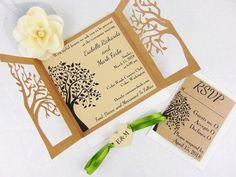 Laser-Cut-Tree-Wood-Rustic-Wedding-Invitation.jpg (585×439)