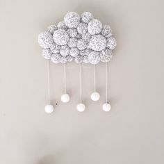 Image of PoomCloud Bicolore (modèle à personnaliser) Homemade Crafts, Decoration, Creations, Weaving, Ceiling Lights, Sweet, Instagram Posts, Projects, How To Make