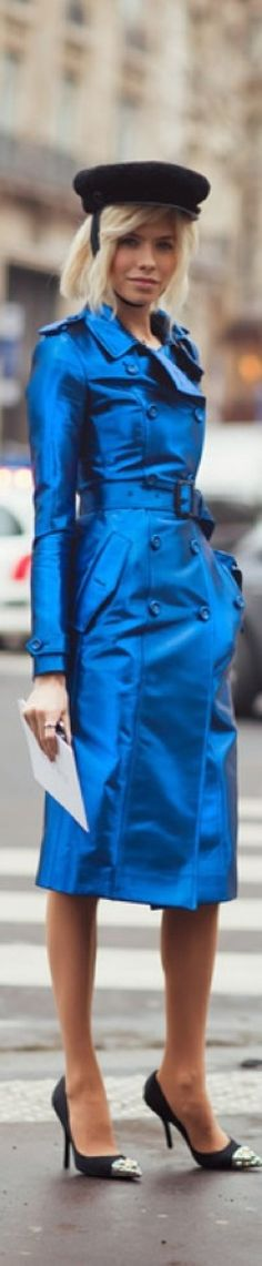Chic In The City ◆ Elena Perminova wearing a Burberry trench- #LadyLuxuryDesigns