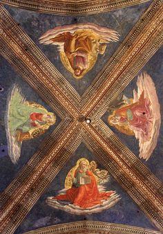 Santa Maria Novella - Church and Cloisters - Florence. Tornabuoni Часовня. Доменико Гирландайо - четыре евангелиста. 1485 - 1490
