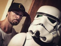 "Dan Feuerriegel - ""Why so sad StormTrooper ? Having fun filming at #vanaheim studios w @ystark #secretgig #funtimes #stormtrooper #starwars #setlife"""