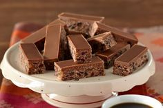 Milk chocolate coconut no-bake slice