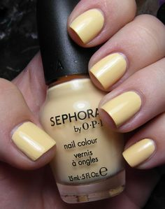 The perfect yellow shade..glad I purchased the last one at my local Sephora! ~ Sephora by OPI Why Yellow There