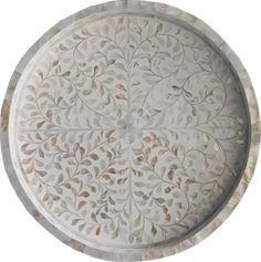 Mother of Pearl Inlay Round Tray in White - Kitchen Benches, Round Tray, Wooden Frames, Painted Furniture, Shells, Pearls, Bungalow, Craftsman