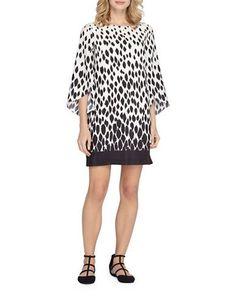 Tahari Arthur S. Levine Plus Boatneck Tulip Sleeve Dress Women's Ivory