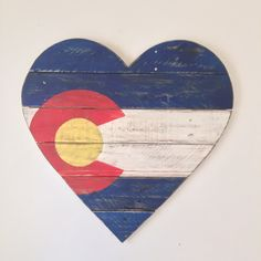 A personal favorite from my Etsy shop https://www.etsy.com/listing/264436313/colorado-flag-wood-heart