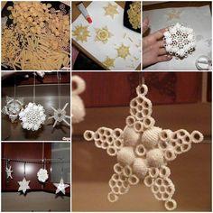 pasta tree ornaments