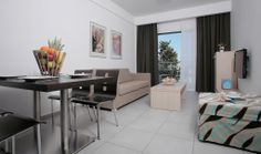 Anemi Hotel, Superior One Bedroom / Lounge Hotel Suites, One Bedroom, Lounge, Cyprus, Table, Furniture, Home Decor, Airport Lounge, Drawing Rooms