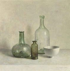 A still life with a Roman glass