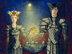 Rulers of the Night Court by PhantomRin!!! #feyre #rhysand This is sooo beautiful, I'm legit tearing up rn