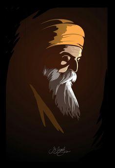 #babaNanak #gurunanak #Vector #vectorportrait #illustration #art #portrait #sikh #sikhartist