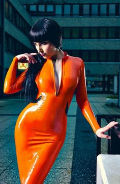 I read somewhere that orange is the new black.  Just love this colour in latex
