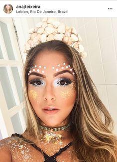 Glitter Carnaval, Make Carnaval, Halloween Looks, Halloween Makeup, Coachella Make-up, Festival Makeup Glitter, Beauty Makeup, Hair Beauty, Mask Girl