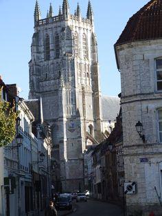 Church in Aire-sur-la-Lys, Pas-de-Calais, France