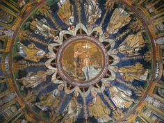 Mosaico della cupola del battistero degli ortodossi, Ravenna. V sec