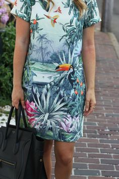 Oh So Glam: Tropical Shift Dress
