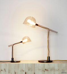 Настольные лампы по подобию пробирок и мензурок Как вам идея?