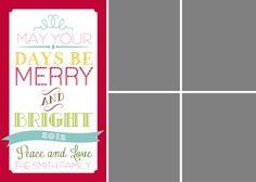 free photo christmas card template