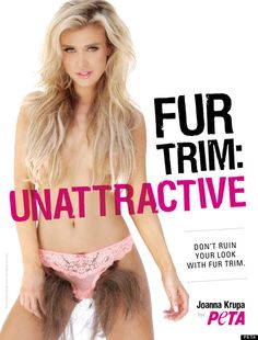 """PETA campaign"" - telling women they need to be shaved."