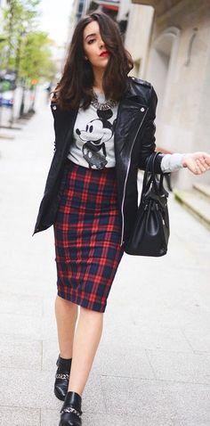 Printed Skirts Outfit Ideas 2017
