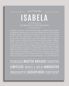 """Personalized Name Prints From A-Z – Tagged """"female"""" – Page 63 – Name Stories Girl Names, Baby Names, Customer Stories, Classic Names, Descriptive Words, Thing 1, Name Art, Names With Meaning, New Names"""