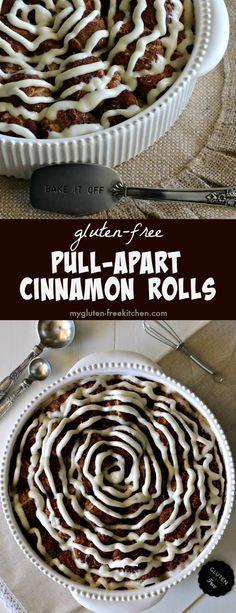 Gluten-free Pull-Apart Cinnamon Rolls Recipe. Delicious for gluten-free brunch! #glutenfreerecipe