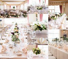 classic wedding flowers cream red peach elegant