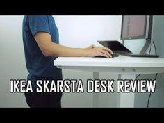 IKEA SKARSTA (BEKANT alternative) Sit/Stand Desk Unboxing Assembly & Impressions - YouTube