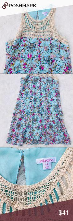 f9fbe2992e3a Xhilaration sun dress with crochet top size large Xhilaration size large  sleeveless summer dress size large