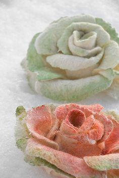 Felt roses by ing00te, via Flickr