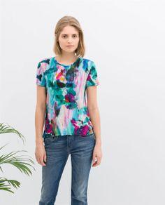 MULTICOLOURED PRINT T-SHIRT from Zara