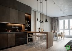 Gorgeous Apartment Design By Using a Contemporary Furniture Showing Unique Layouts - RooHome | Designs & Plans