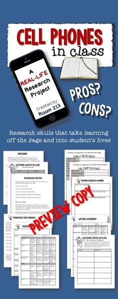 Deal with the cell phone issue and do a research project at the same time. The end result? A fair terms of use for cell phones in your classroom.