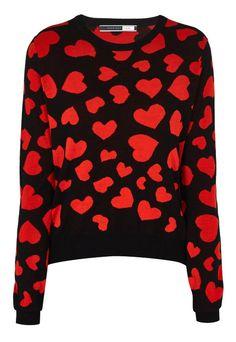 Black Girone Heart Sweater